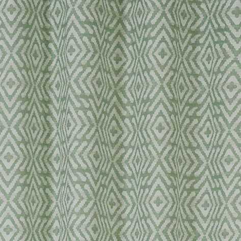 Cortina Mirada verde tiffany estampadas