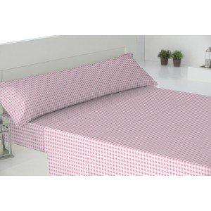 Parure de lit de flannelle 90 LOLO ROSA