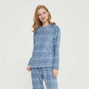 Pijama coral Nuria índigo
