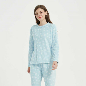 Pijama coral Snow celeste