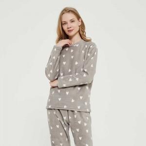 Pijama coral Olga gris