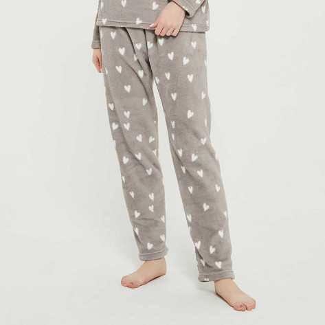 Pijama coral Olga gris pijama-invierno