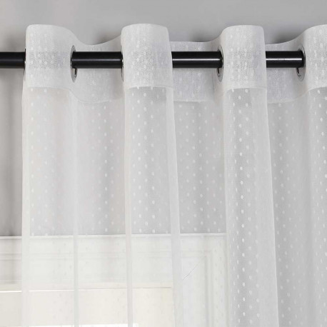 Cortina Plumeti gris cortinas-translucidas-visillos