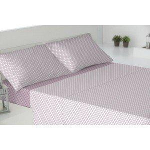 Parure de lit au coton 160 MICHIGAN MALVA