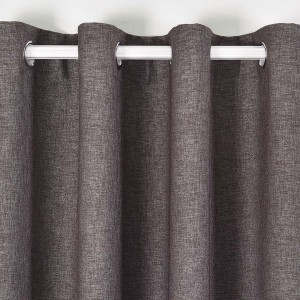 Rideau FAUX LIN BLACKOUT GRAPHITE