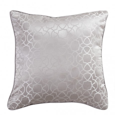 coussin jacquard maya gris perle. Black Bedroom Furniture Sets. Home Design Ideas