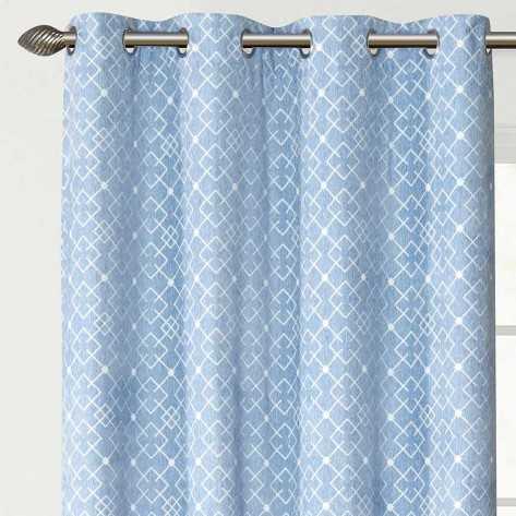 Cortina Jacquard Chenilla Caro indigo rideaux-opaques