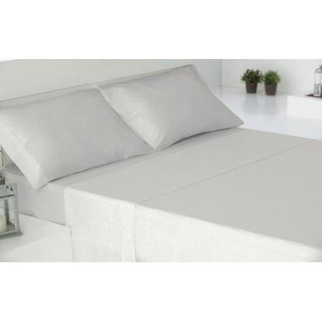Juego de sábanas 180 NANCY GRIS PERLA cama-180