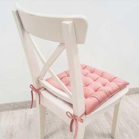 Cojín de silla 40x40 rosa palo - Funda + Relleno cojines-sillas