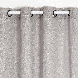Cortina JACQUARD DAMASCO GRIS PERLA rideaux-opaques