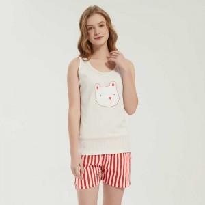 Pijama corto algodón Dudu rojo