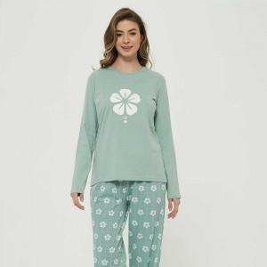 Pijama largo algodón Trebol...