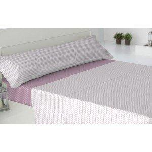 Jogos de lençois algodão 90 CORCEGA REVERSIBLE ROSA