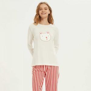 Pijama largo algodón Dudu rojo