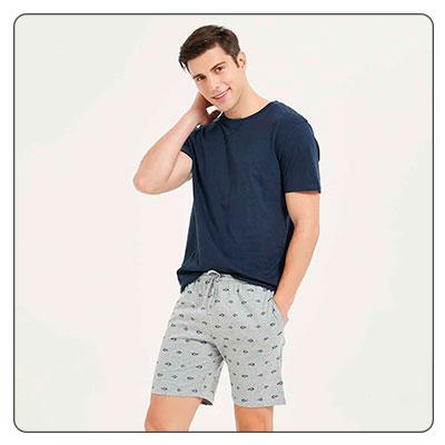 pijamas cortos de hombre