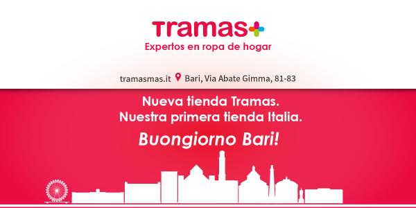 Tramas comienza su aventura italiana ¡Buongiorno Bari!
