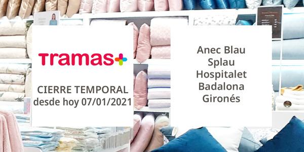 Cierre temporal de algunos de nuestros establecimientos de Extremadura y Cataluña