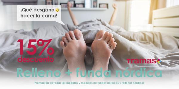PROMOCIÓN FINALIZADA: Promo Funda Nórdica + Relleno Nórdico al 15% Descuento